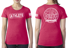 Load image into Gallery viewer, ATHLETE Ladies T-Shirt - Heather Red