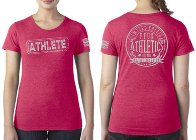 ATHLETE Ladies T-Shirt - Vintage Red