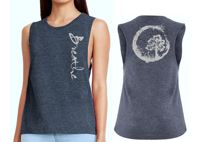 BREATHE Ladies Flow Vest Top - Antique Denim