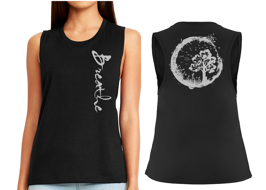 BREATHE Ladies Flow Vest Top - Black