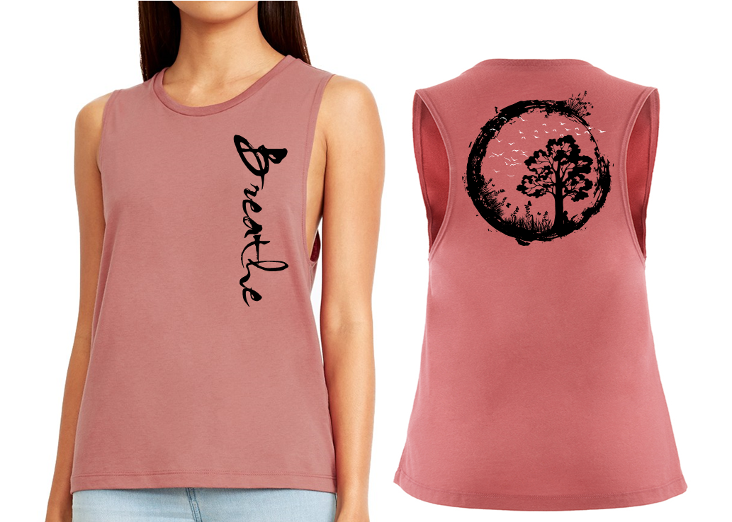 BREATHE Ladies Flow Vest Top - Smoked Paprika