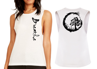 BREATHE Ladies Flow Vest Top - White