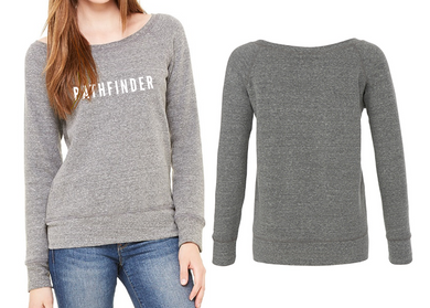 REST DAYS Ladies Wide Neck Sweatshirt - Grey