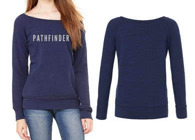 REST DAYS Ladies Wide Neck Sweatshirt - Navy