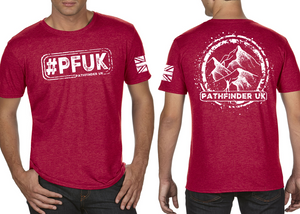 #PFUK Men's T-Shirt - Vintage Red