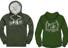 Load image into Gallery viewer, #PFUK Unisex Heavyweight Hoodie - Bottle Green