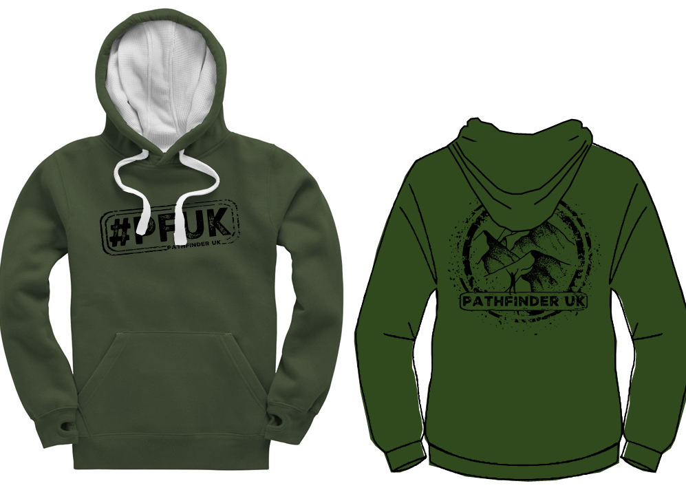 #PFUK Unisex Heavyweight Hoodie - Bottle Green