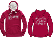 Load image into Gallery viewer, #PFUK Unisex Heavyweight Hoodie - Cranberry