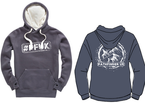 #PFUK Unisex Heavyweight Hoodie - Denim Grey