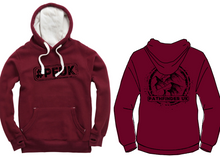 Load image into Gallery viewer, #PFUK Unisex Heavyweight Hoodie - Maroon