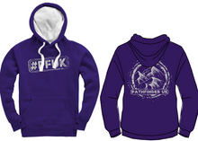 Load image into Gallery viewer, #PFUK Unisex Heavyweight Hoodie - Deep Purple