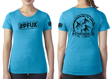 Load image into Gallery viewer, #PFUK Ladies T-Shirt - Vintage Turquoise