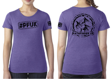 Load image into Gallery viewer, #PFUK Ladies T-Shirt - Purple Rush
