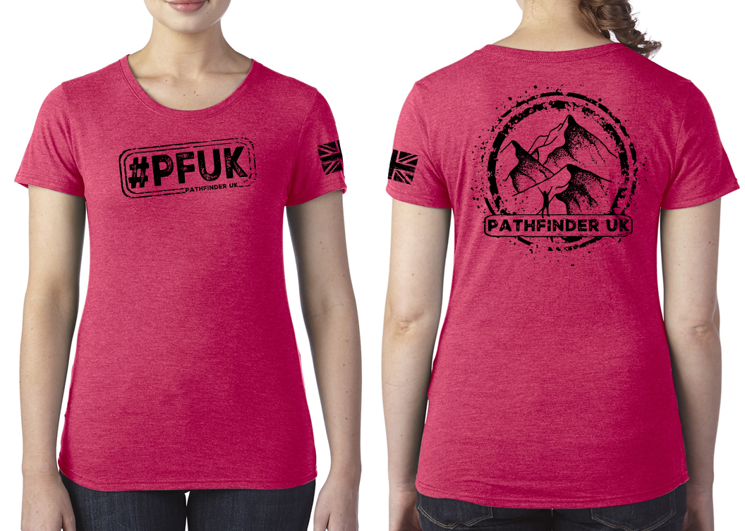 #PFUK Ladies T-Shirt - Vintage Red