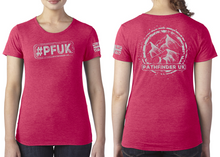 Load image into Gallery viewer, #PFUK Ladies T-Shirt - Vintage Red