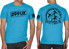 Load image into Gallery viewer, #PFUK Men's T-Shirt - Vintage Turquoise