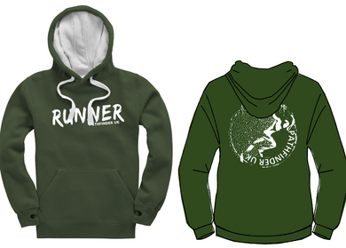 RUNNER Unisex Heavyweight Hoodie - Bottle Green