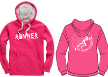 Load image into Gallery viewer, RUNNER Unisex Heavyweight Hoodie - Cerise Pink