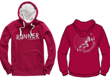 Load image into Gallery viewer, RUNNER Unisex Heavyweight Hoodie - Cranberry