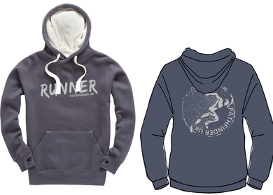 RUNNER Unisex Heavyweight Hoodie - Denim Grey