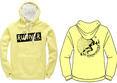 RUNNER Unisex Heavyweight Hoodie - Lemon Drop