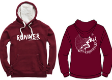 Load image into Gallery viewer, RUNNER Unisex Heavyweight Hoodie - Maroon