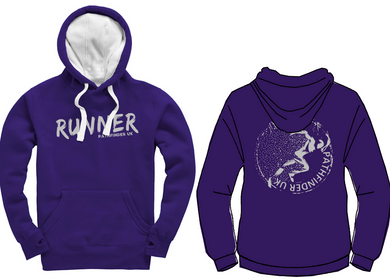 RUNNER Unisex Heavyweight Hoodie - Deep Purple