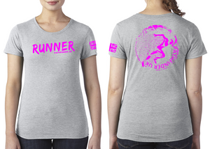RUNNER Ladies T-Shirt - Heather Grey