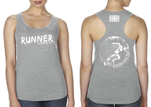 Load image into Gallery viewer, RUNNER Ladies Racer Back Vest - Heather Grey