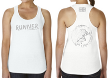 Load image into Gallery viewer, RUNNER Ladies Racer Back Vest - White
