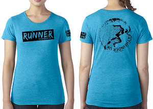 RUNNER Ladies T-Shirt - Vintage Turquoise