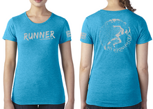 Load image into Gallery viewer, RUNNER Ladies T-Shirt - Vintage Turquoise
