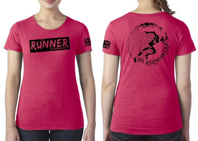 RUNNER Ladies T-Shirt - Vintage Red