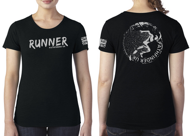 RUNNER Ladies T-Shirt - Vintage Black