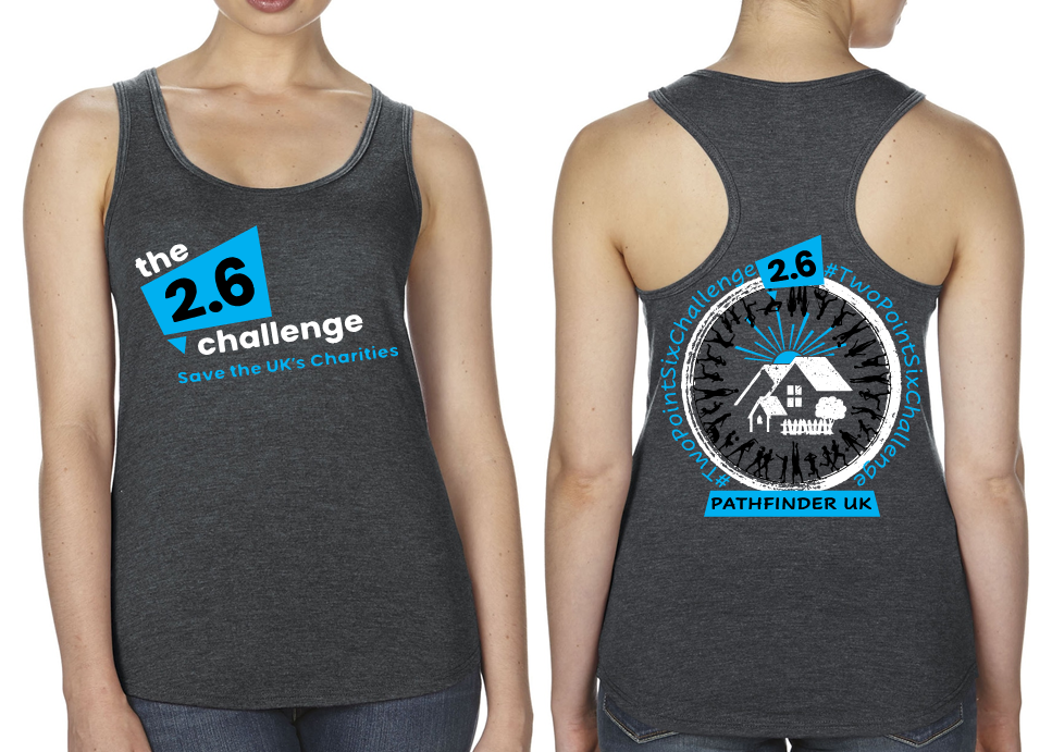 2.6 CHALLENGE Charity Ladies Racer Back Vest