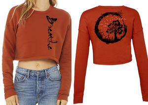 BREATHE Ladies Cropped Sweatshirt - Brick