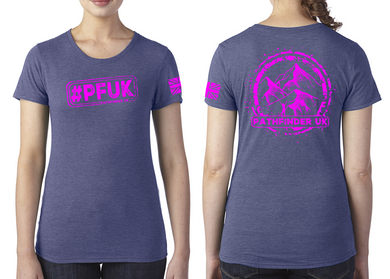 #PFUK Ladies T-Shirt - Vintage Royal