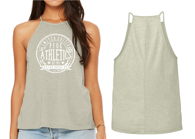 ATHLETE Ladies High Neck Vest - Heather Stone