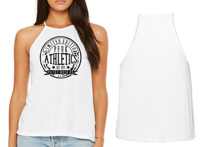 ATHLETE Ladies High Neck Vest - White