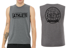 Load image into Gallery viewer, ATHLETE Men's Muscle Tank - Heather Dark Grey