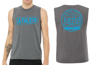 ATHLETE Men's Muscle Tank - Heather Dark Grey