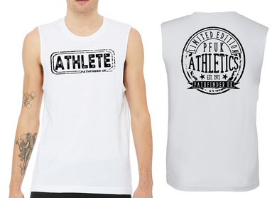 ATHLETE Men's Muscle Tank - White