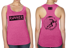 Load image into Gallery viewer, RUNNER Ladies Racer Back Vest - Hot Pink