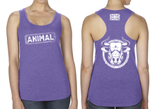 Load image into Gallery viewer, ANIMAL (Bull) Ladies Racer Back Vest - Purple