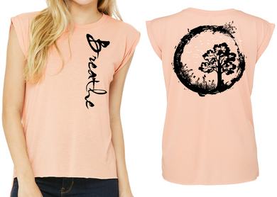 BREATHE Ladies Flow T-Shirt - Peach