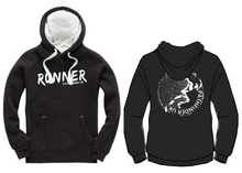 Load image into Gallery viewer, RUNNER Unisex Heavyweight Hoodie - Dusty Black