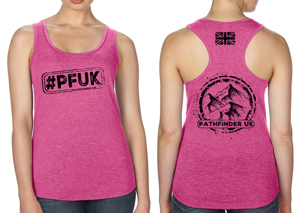 #PFUK Ladies Racer Back Vest - Hot Pink