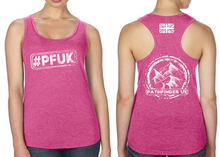 Load image into Gallery viewer, #PFUK Ladies Racer Back Vest - Hot Pink