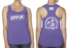 Load image into Gallery viewer, #PFUK Ladies Racer Back Vest - Purple