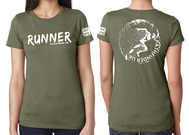 RUNNER Ladies T-Shirt - Military Green